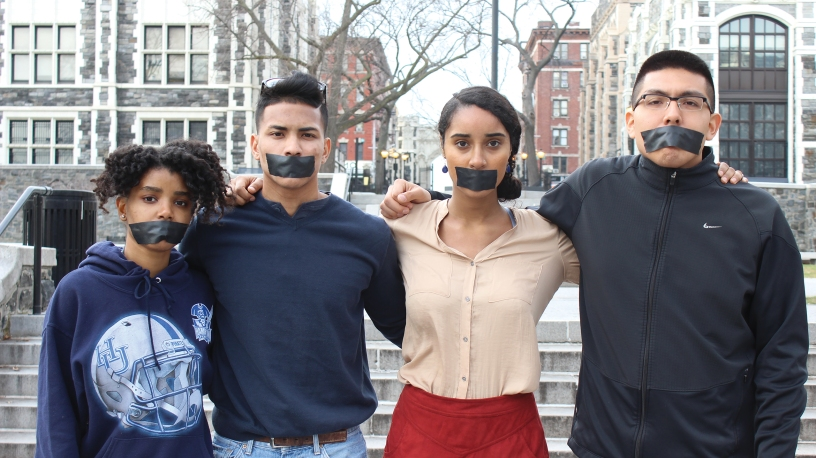 CCNY students pose for cover story